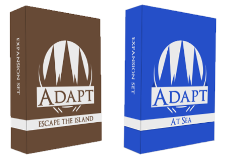 3D box design for escape the island expansion and at sea